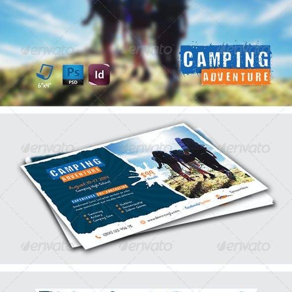 Camping Adventure Postcard Templates