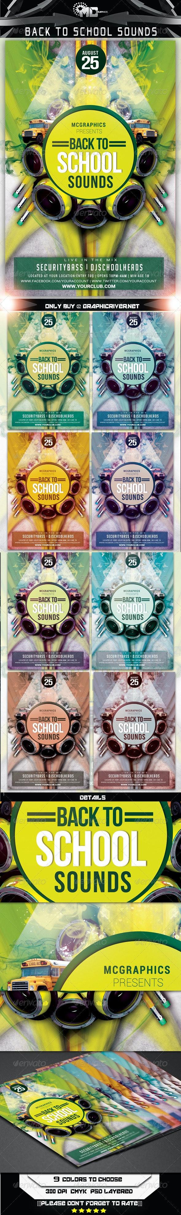 Back 2 School Sounds Flyer Template - Flyers Print Templates