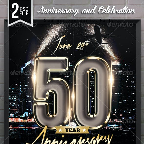 Anniversary / Celebration Party Flyer