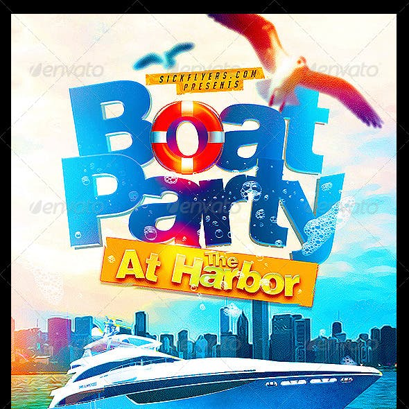 Boat Party Flyer Template PSD by INDUSTRYKIDZ | GraphicRiver