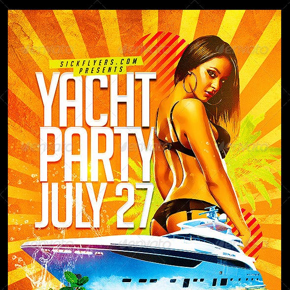 Yacht Party Flyer Template PSD