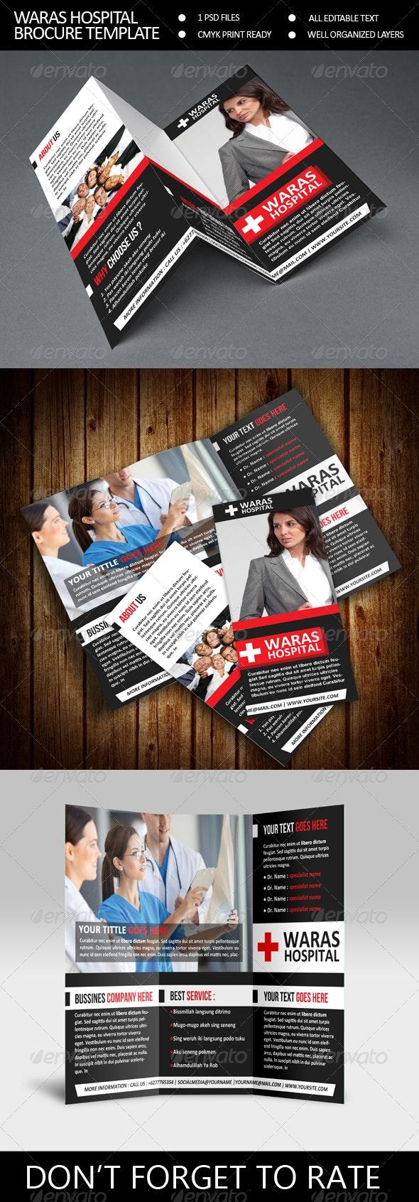 Waras Hospital Trifold Brocure Template - Corporate Brochures