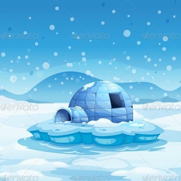 An Iceberg with an Igloo