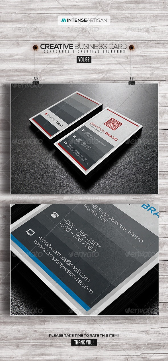 IntenseArtisan Business Card Vol.62 - Corporate Business Cards