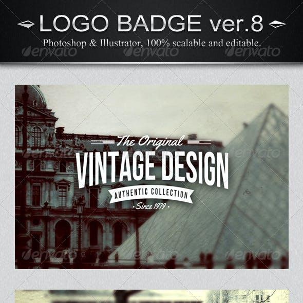 6 Vintage Logo Badges Ver.8