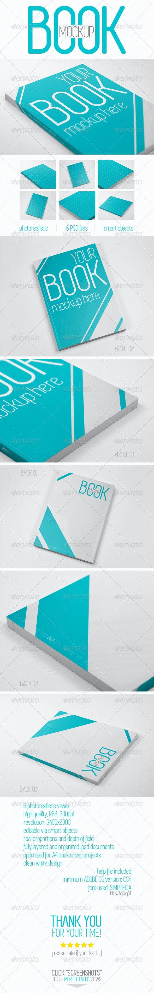 Book Cover Mockup - Books Print