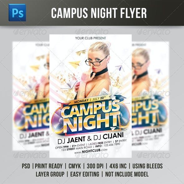 Campus Night Flyer