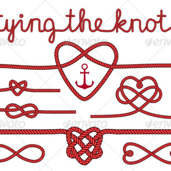 Tying the Knot Rope Hearts Set