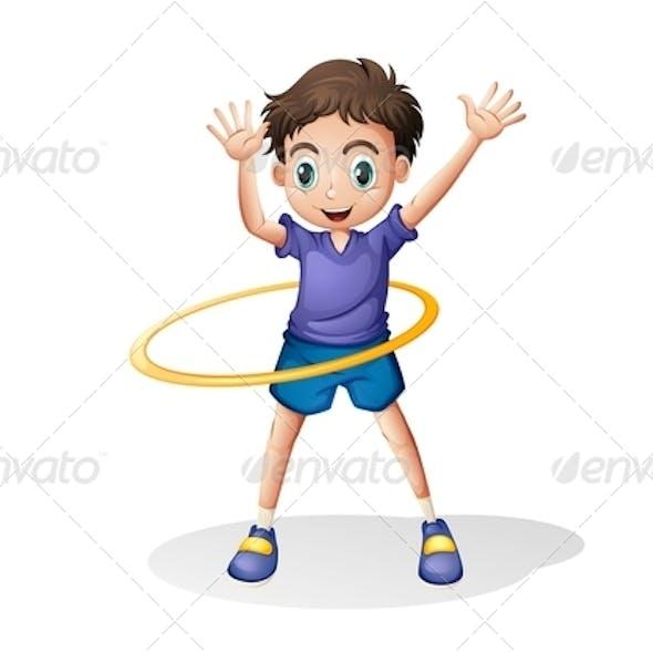 Boy Playing Hulahoop