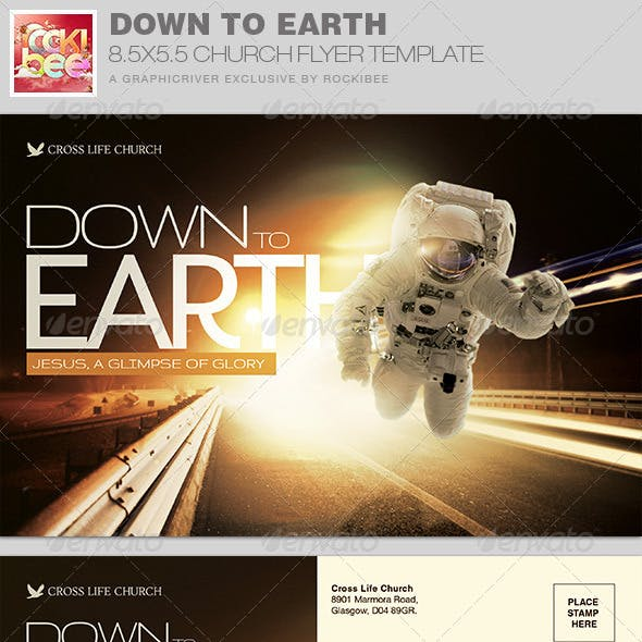 Down to Earth Church Flyer Invite Template