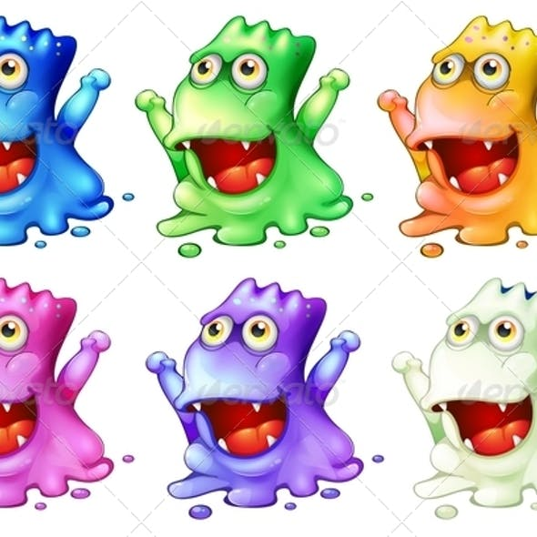 Six Colorful Monsters