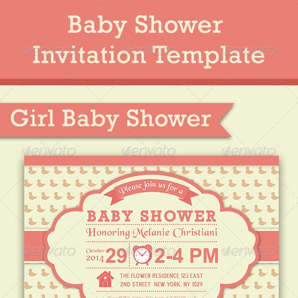 Baby Shower Template - Vol. 5