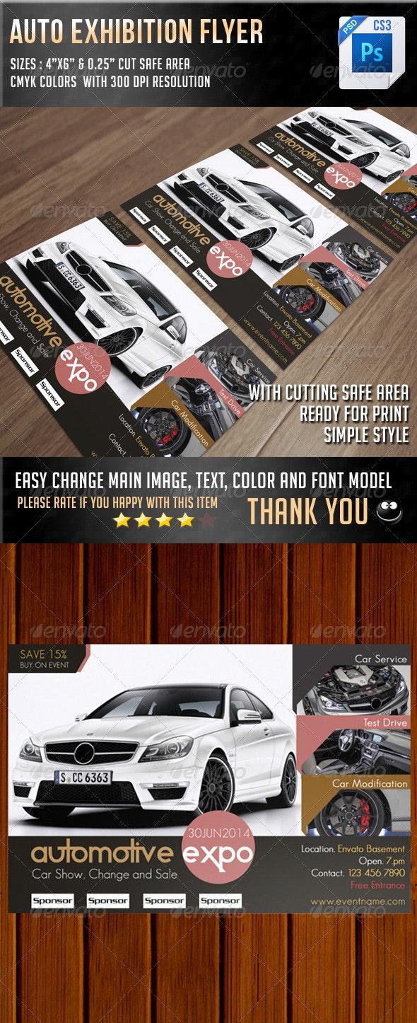 Auto Exhibition Flyer V10 - Commerce Flyers