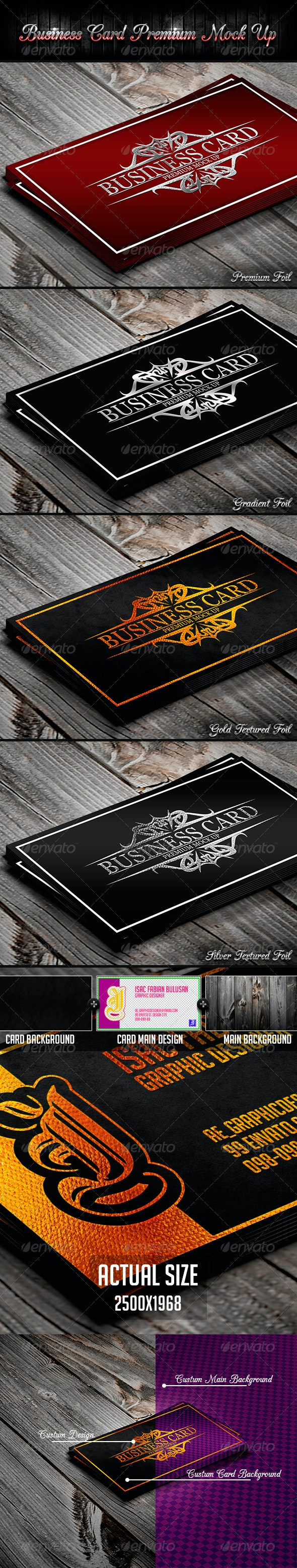 Business Card Premium Mock-Up - Business Cards Print