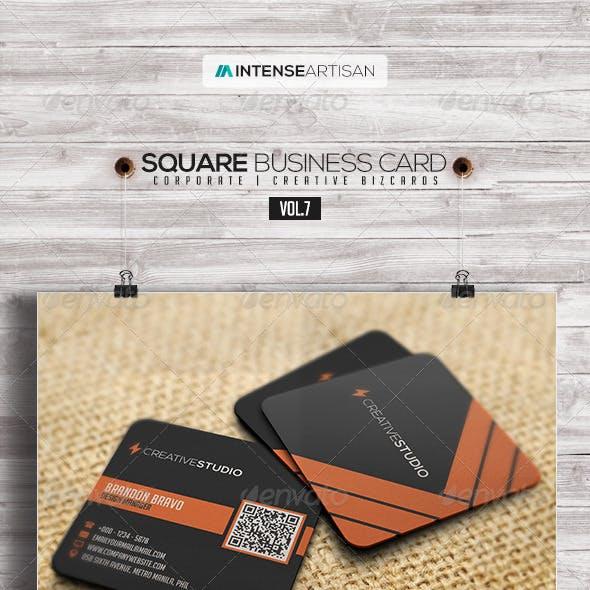 Square Business Card V.7