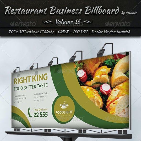 Restaurant Business Billboard | Volume 15