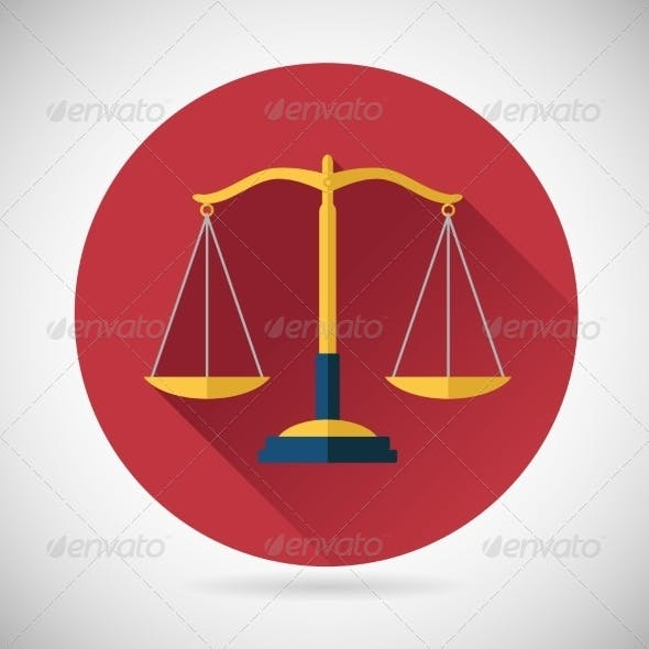 Law, Justice Scales Icon