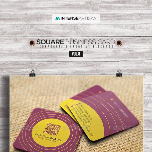Square Business Card V.8