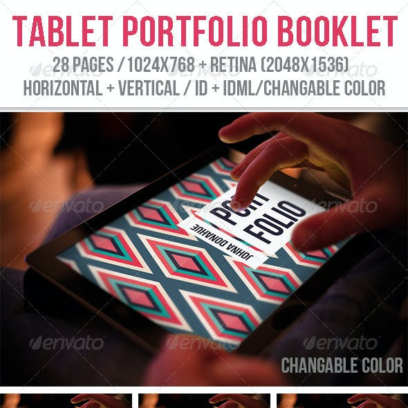 iPad & Tablet Portfolio Booklet