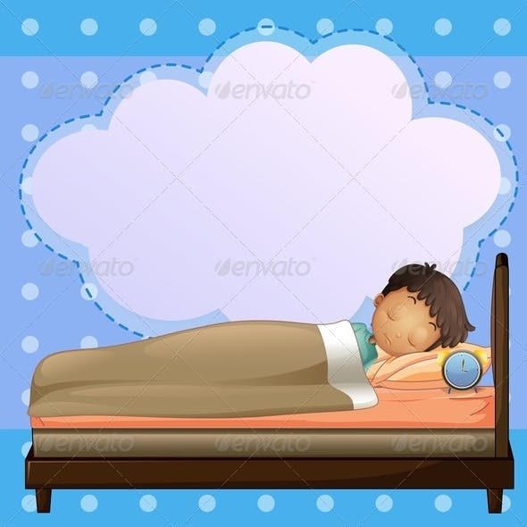 A Boy Sleeping with an Empty Callout