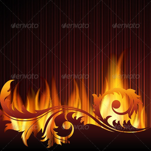 Background with flame. - Backgrounds Decorative