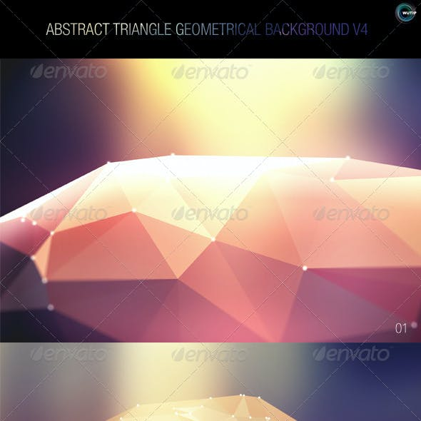 Abstract Triangle Geometrical Background V4