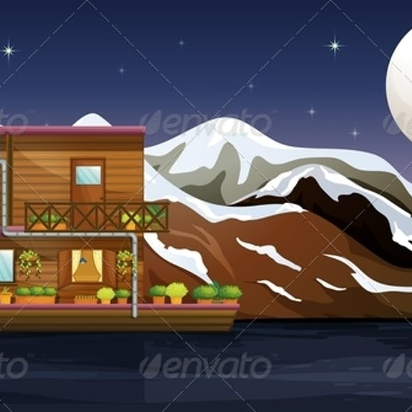 A Wooden Boathouse