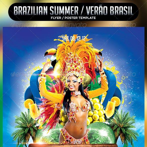 Brazilian Summer Flyer Template