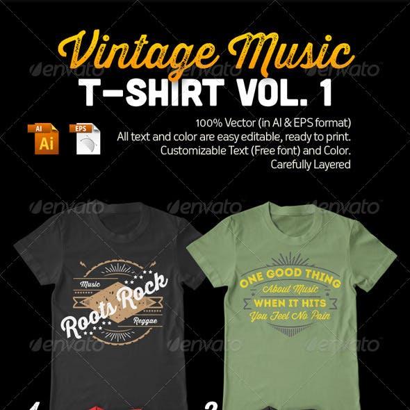 Vintage Music T-Shirt Vol. 1