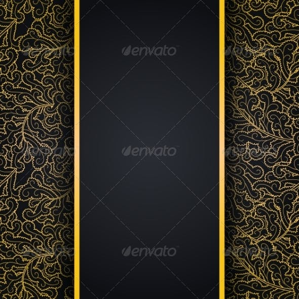 Gold Lace Ornament Background