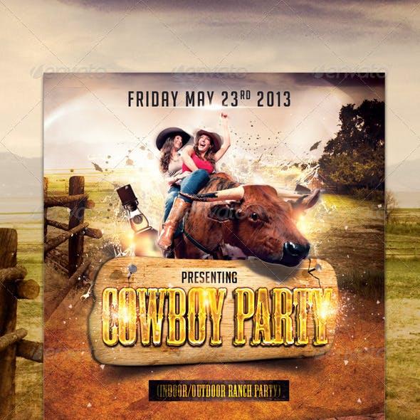 Cowboy Party Flyer