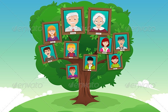 Concept of Family Tree - Conceptual Vectors