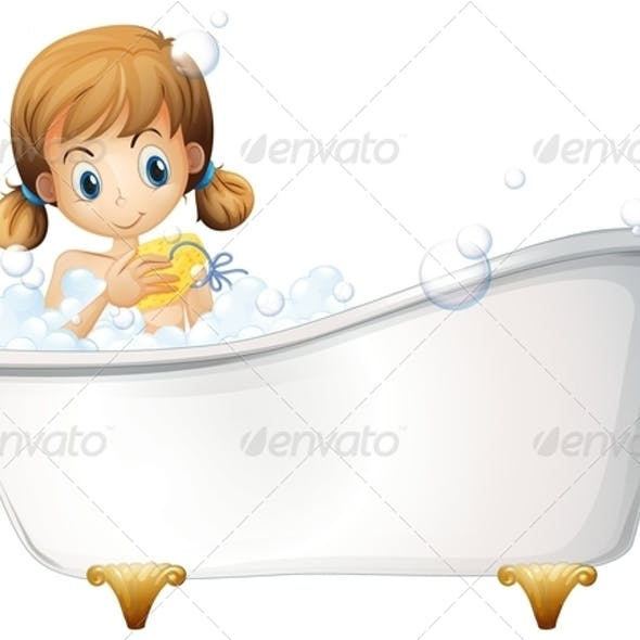 A Girl on the Bathtub