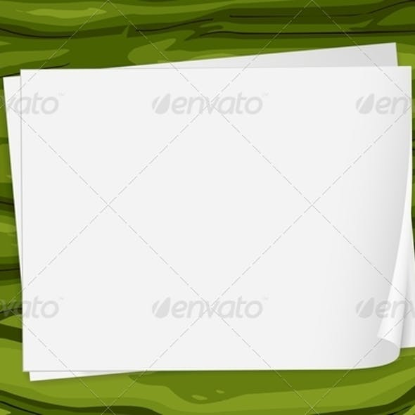 Green Surface with Papers