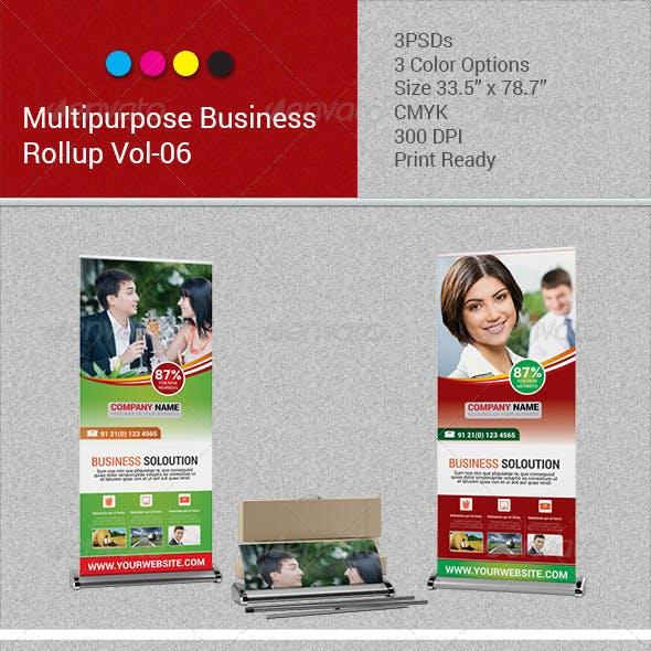 Multipurpose Business Rollup Banner Vol-06