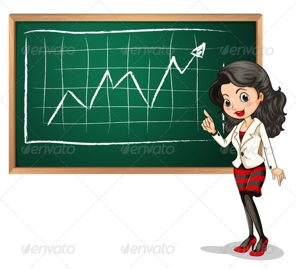 Lady Reporting on Chart - People Characters