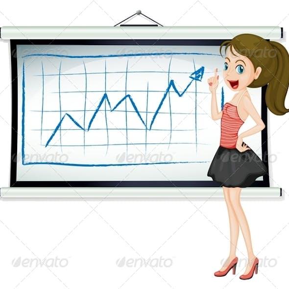 Lady Explaining Graph
