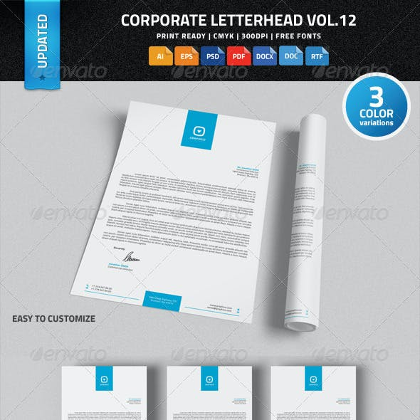 Corporate Letterhead Vol.12 with MS Word DOC/DOCX
