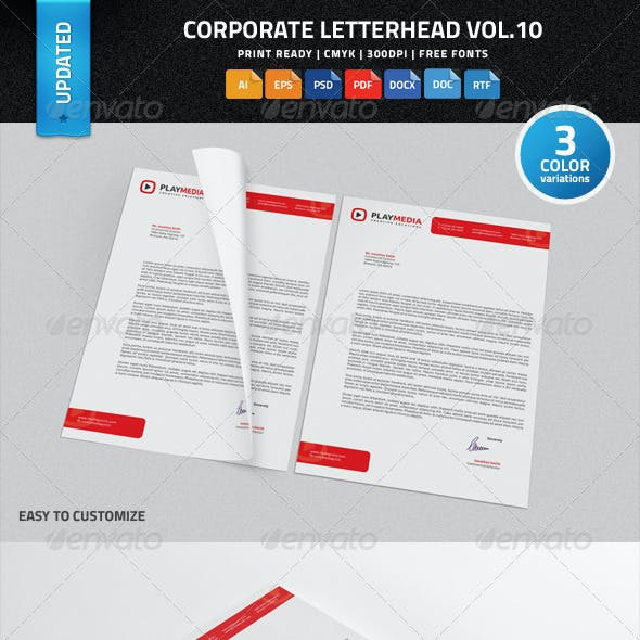 Corporate Letterhead Vol.10 with MS Word DOC/DOCX