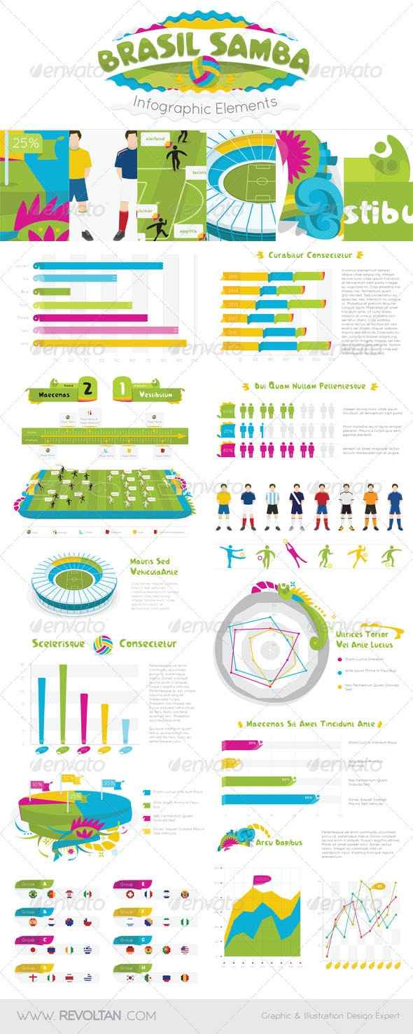 Brasil Samba Infographic Elements - Infographics