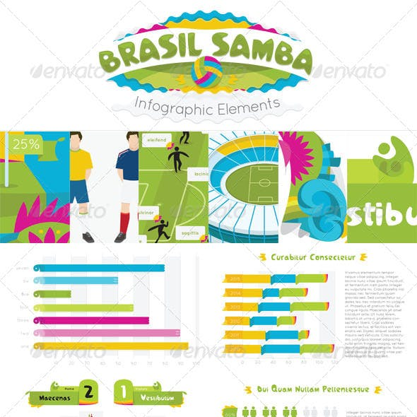 Brasil Samba Infographic Elements