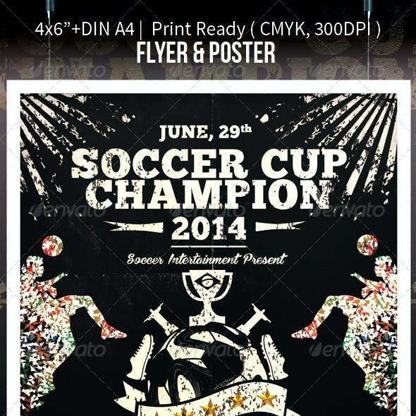 Soccer Cup Brazil 2014 Football Flyer