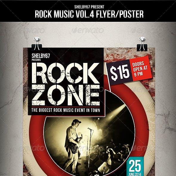 Rock Music Flyer / Poster Vol.4