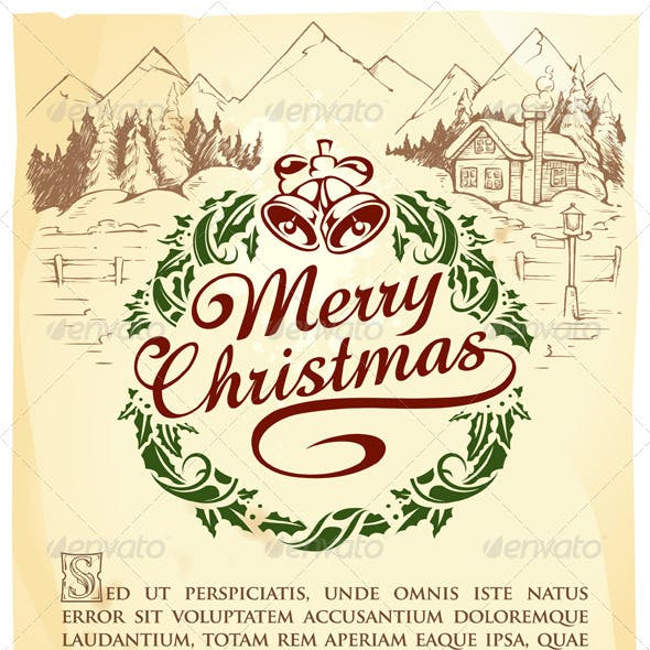 Calligraphic Christmas lettering