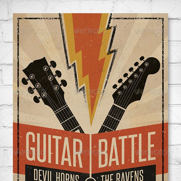 Guitar Battle - Music Flyer/Poster