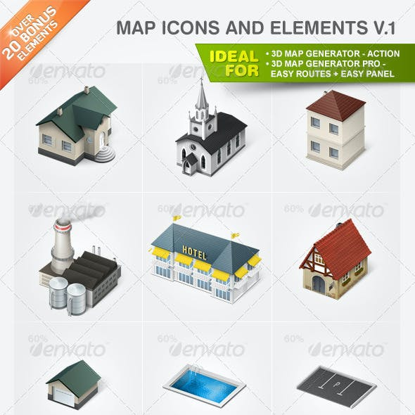 Map Icons and Elements - V.1