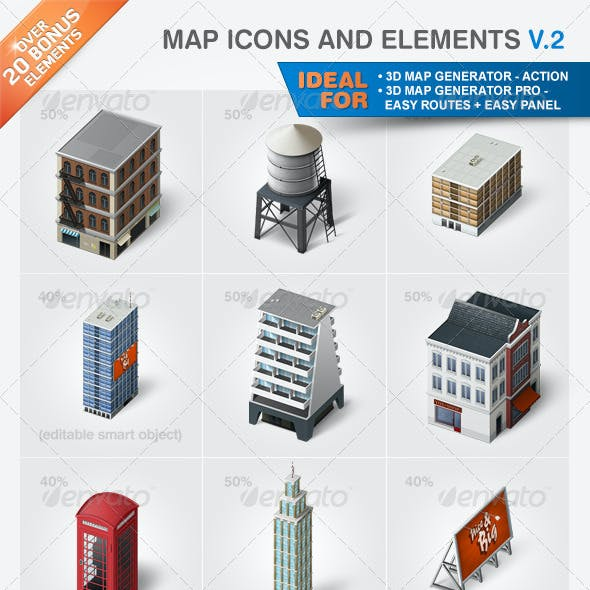 Map Icons and Elements - V.2