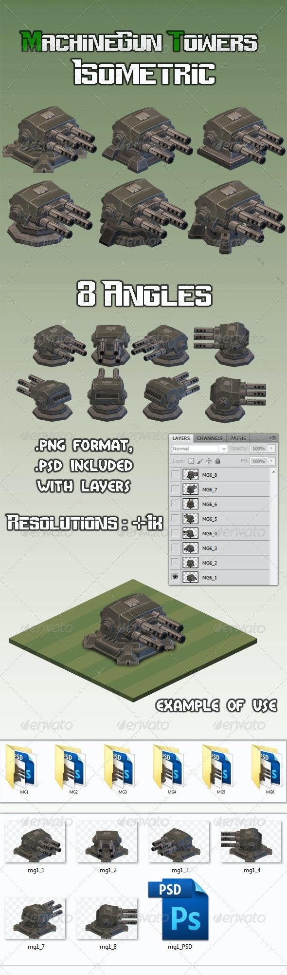 Machinegun Turret 1 Isometric