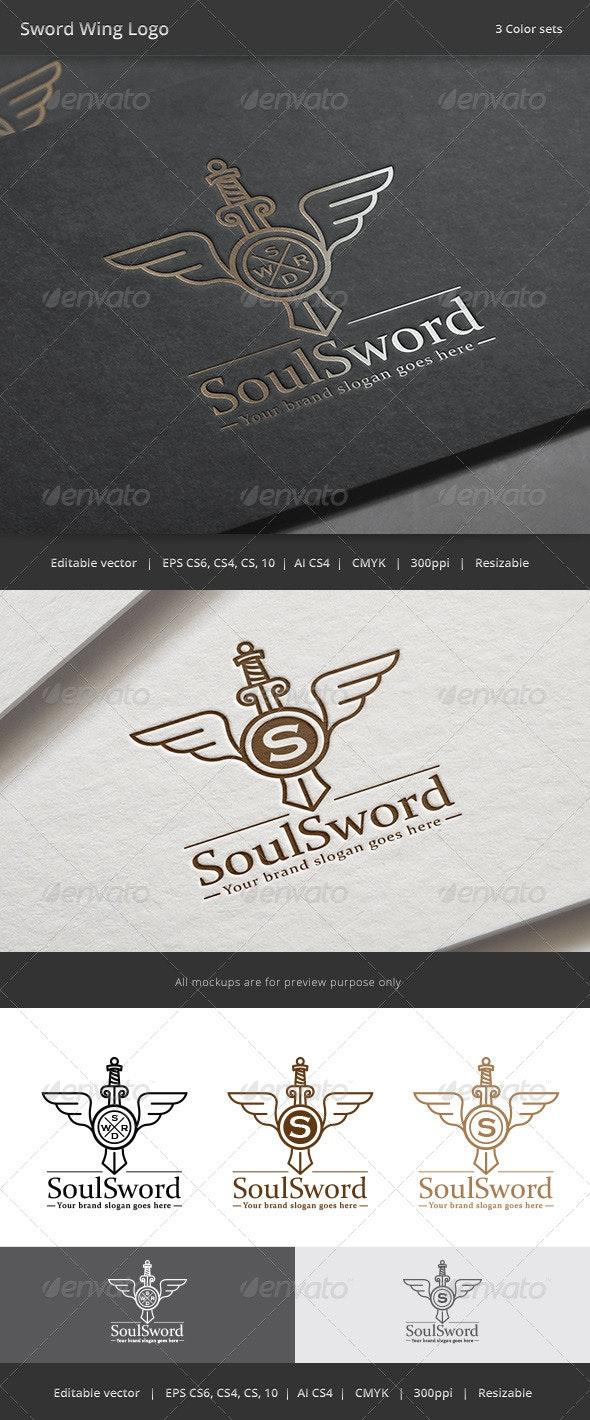 Sword Wing Letter Crest Logo - Crests Logo Templates