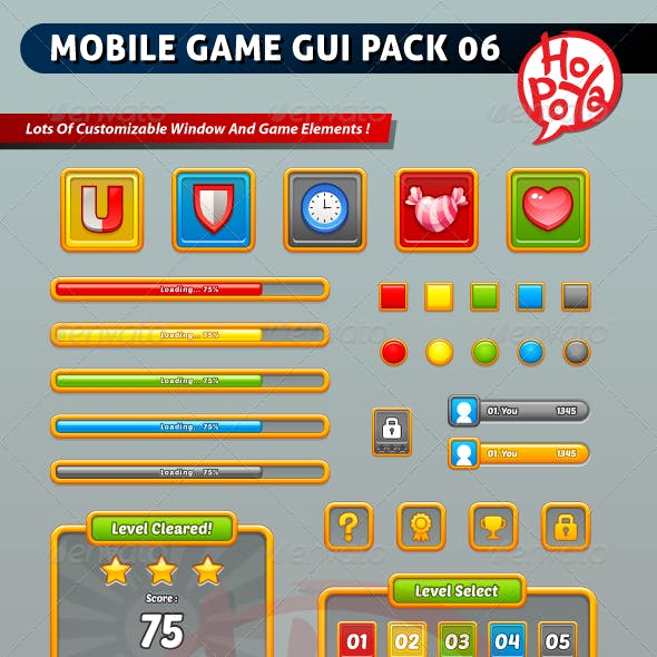 Mobile Game GUI Pack 06